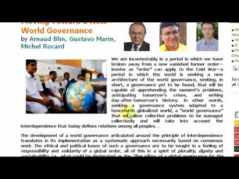 Global Governance or One World Government?