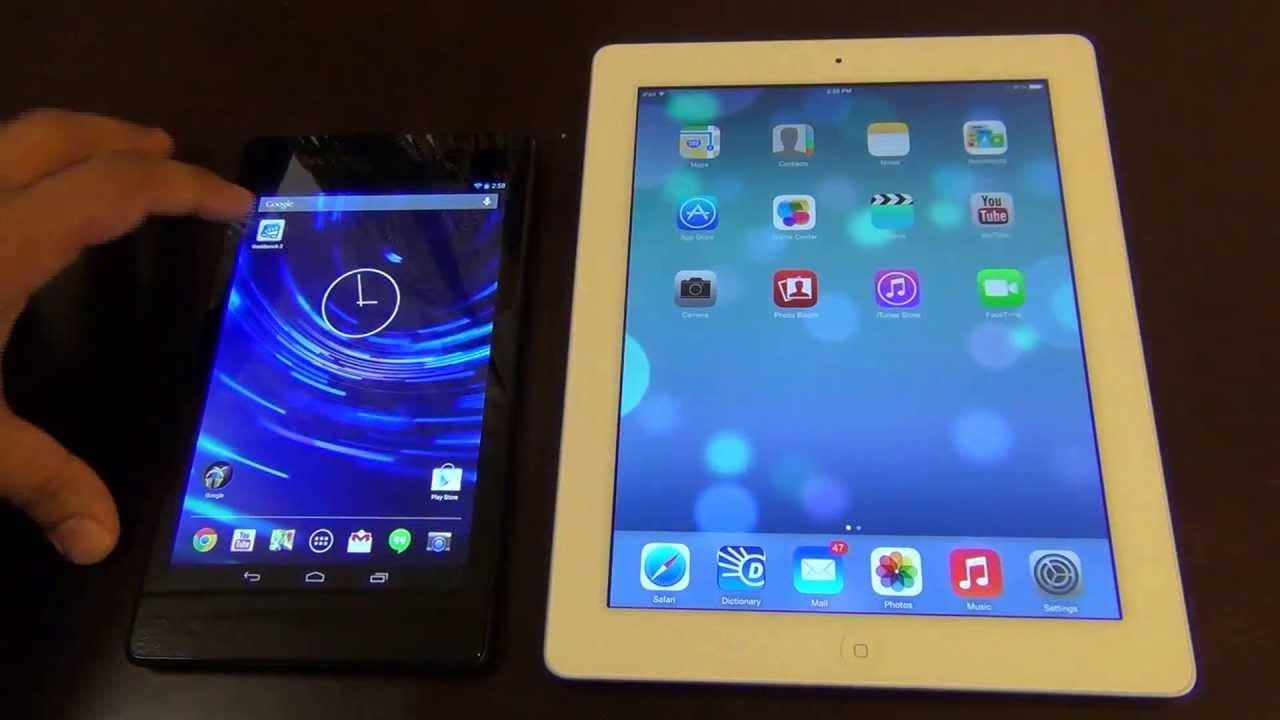 ipad 4 vs the new nexus 7 2 2nd generation speed test. Black Bedroom Furniture Sets. Home Design Ideas