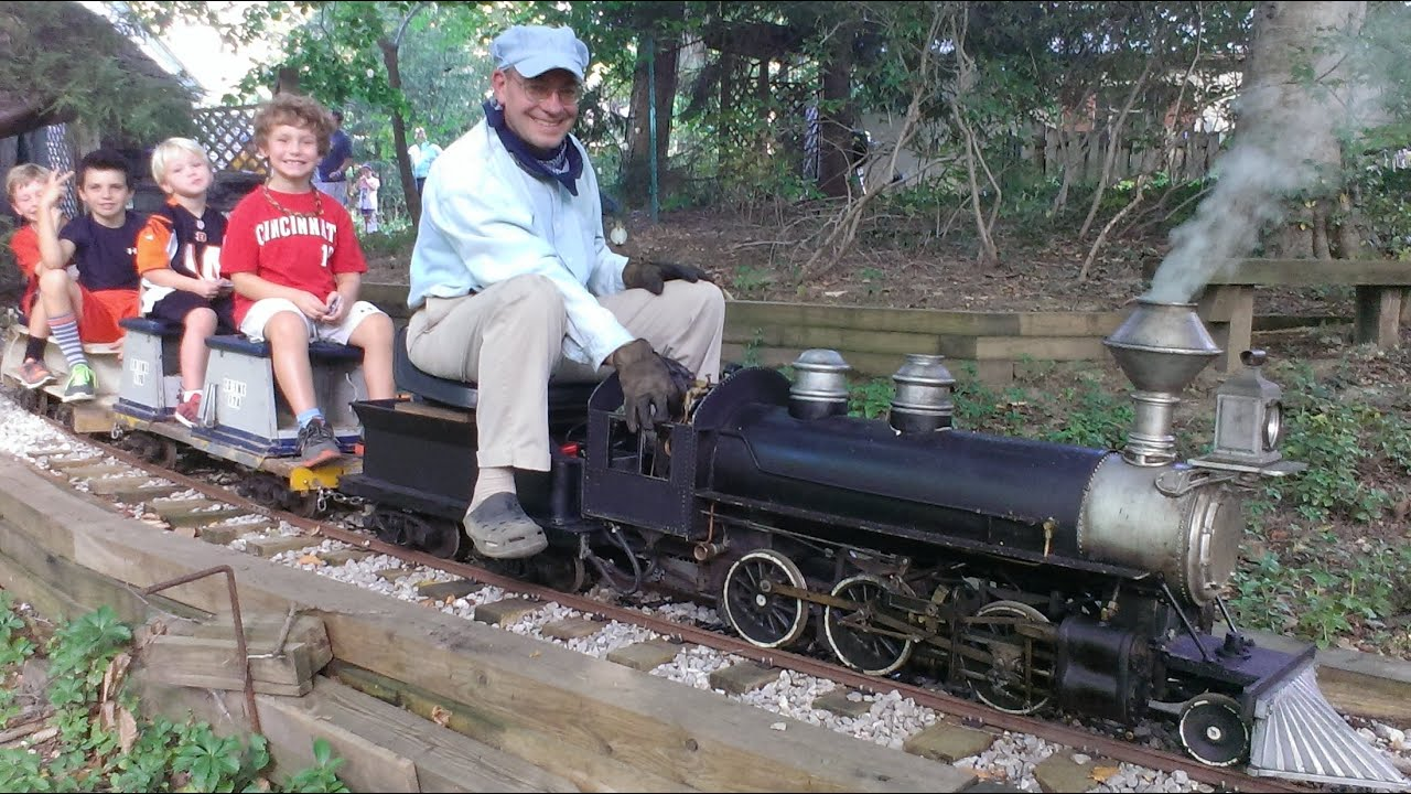 Backyard Railroad Locomotives live steam backyard train locomotive doepke railcar - youtube