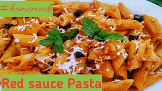 Red sauce Pasta I Restaurant style l tasty and delicious
