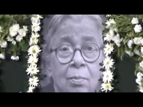Mahasweta Devi - An Extraordinary Life Dedicated To The Ordinary People... R I P  | Part 1 Of 2