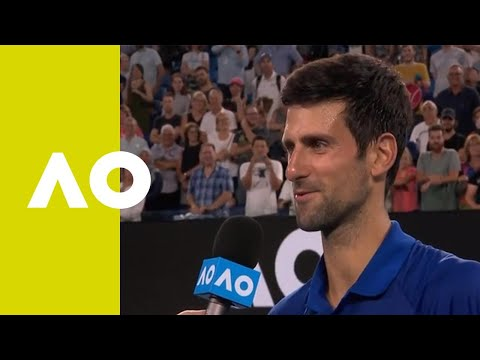 Novak Djokovic on-court interview (2R) | Australian Open 2019