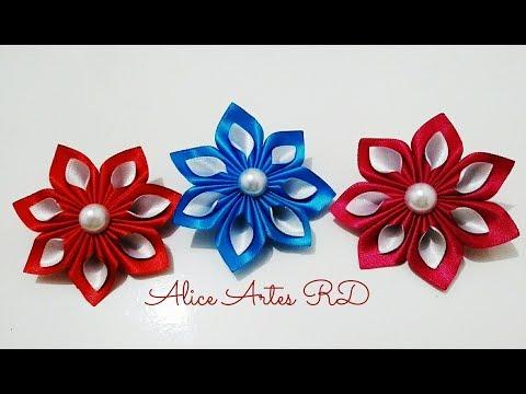 Flor duas cores passo a passo  Aula 96
