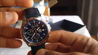 CASIO WATCH CHRONOGRAPH MODEL (EFR-526L-2AVUDF) UNBOXING