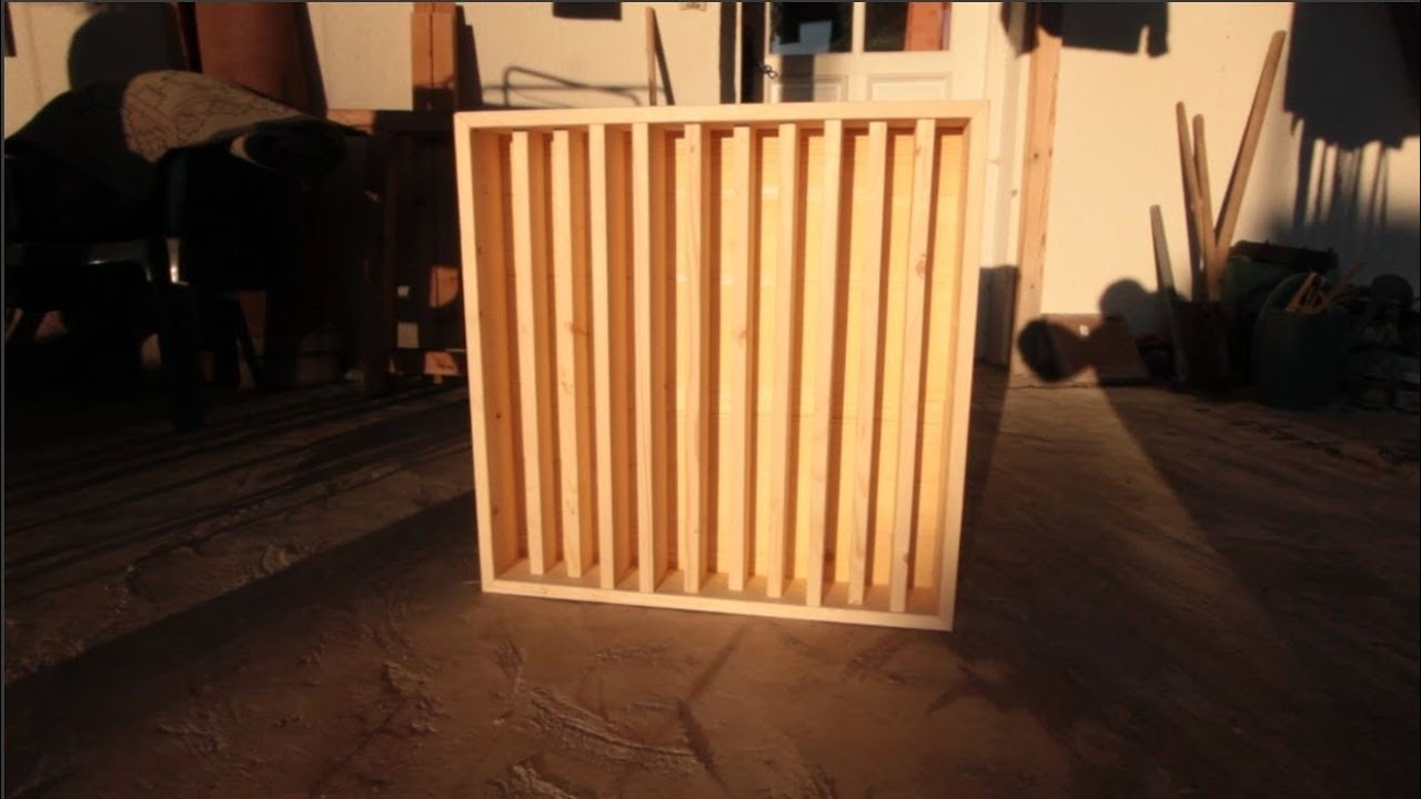 Diy Acoustic Treatment Random Pattern Diffuser Youtube