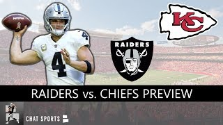 Raiders vs. Chiefs Preview NFL Week 13: 5 Things Oakland Must Do To Beat Kansas City On Sunday