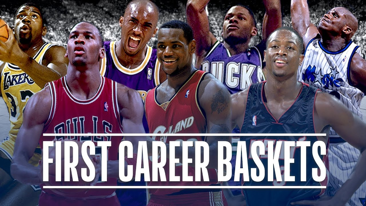 17f95b3c4c081a 50 First Career Baskets from NBA Players - YouTube