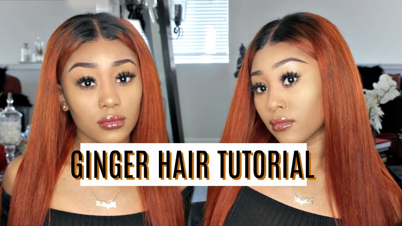 How To Burnt Orangeginger Hair Dyeing Tutorial Julia Hair