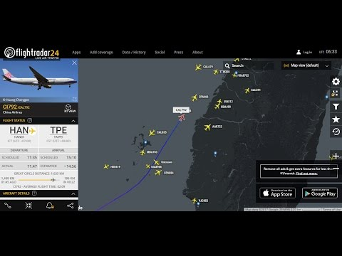 [ Pick Up ] China Airlines Flight 792 from Hanoi, Vietnam back to Taipei Taoyuan TPE RCTP