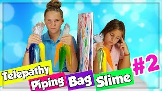 TWIN TELEPATHY PIPING BAG SLIME CHALLENGE!!! PARTIE #2 en français