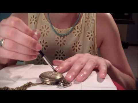 Professional Pocket Watch Cleaning Role Play  - ASMR Soft Sp