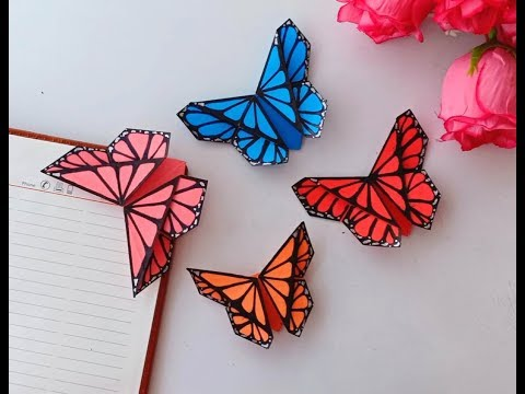 ORIGAMI BUTTERFLY BOOKMARK.