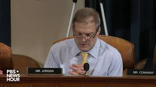 WATCH: Rep. Jim Jordan's full questioning of Cooper and Hale | Trump impeachment hearings