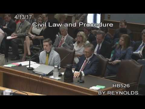 Medical malpractice law was the subject of Corey Shadd's testimony April 13, 2017 in Baton Rouge