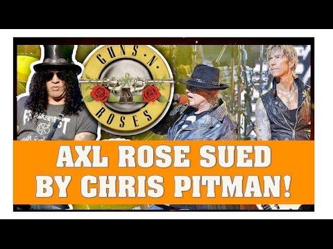 Guns N' Roses News  Axl Rose Sued by Former Member Chris Pitman