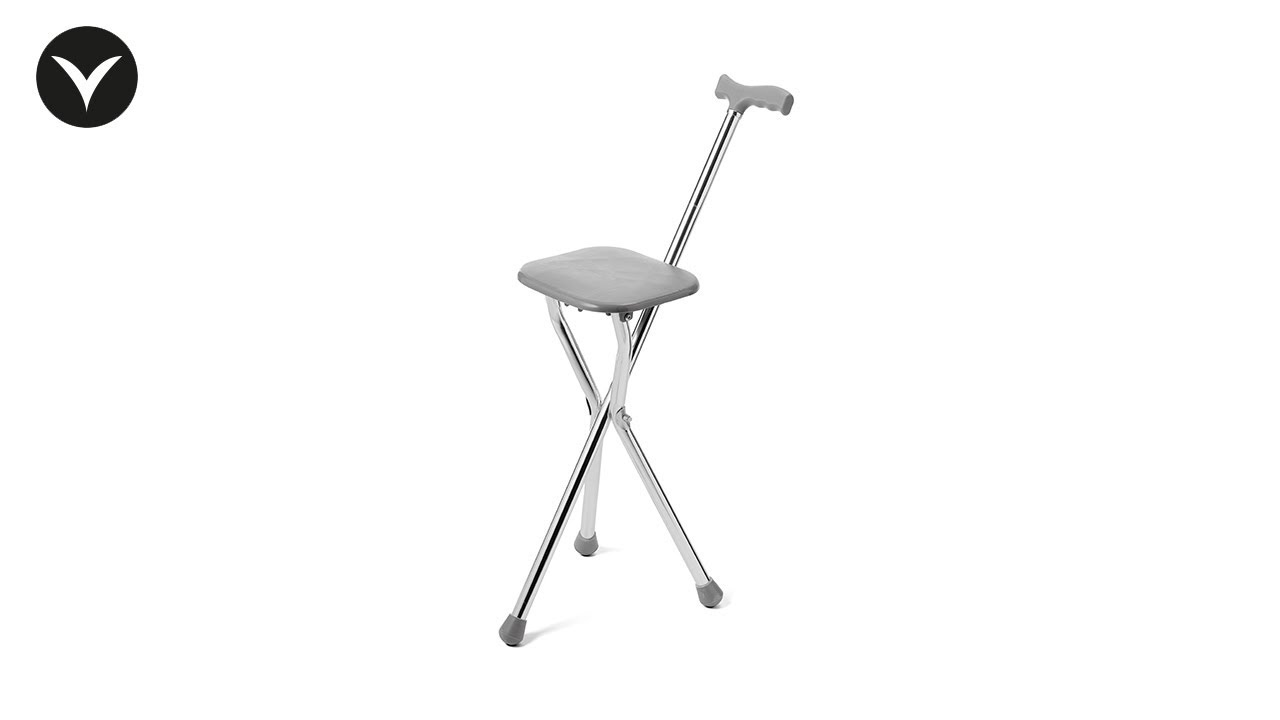 walking cane chair leg covers with seat youtube