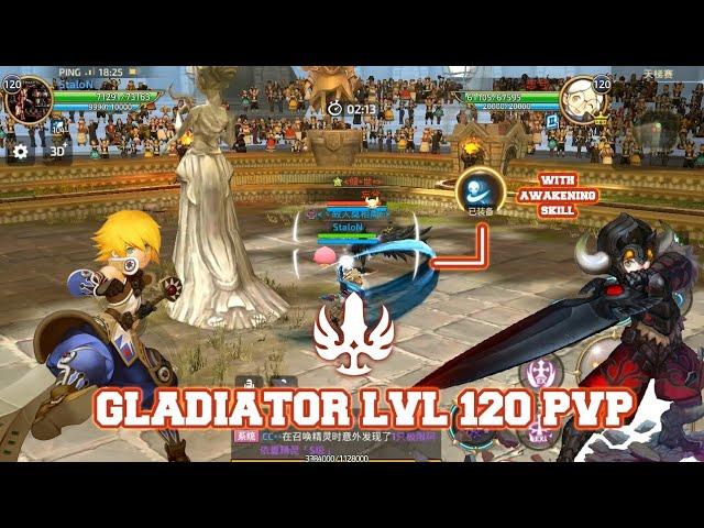 Gladiator LvL 120 PvP With Awakening Skill - Dragon Nest M #AKMJ Gaming