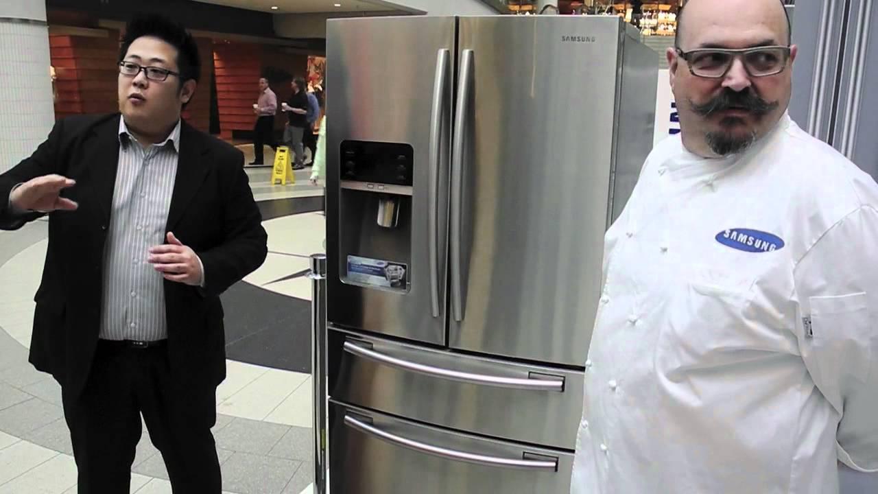 Chef Massimo Capra Demoes Samsungs Four Door French Door Fridge