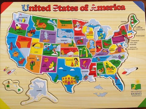 50 States and Capitals Colorful Fun Educational Learning for Kids Toddlers Teach the USA Map