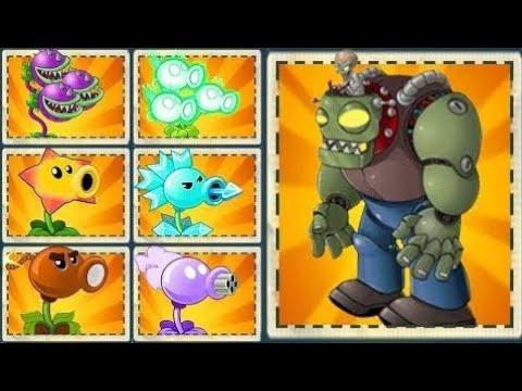 Plants vs Zombies 2 Mod: EVERY PLANT POWER-UP vs MODERN DAY GARGANTUAR FIGHT!