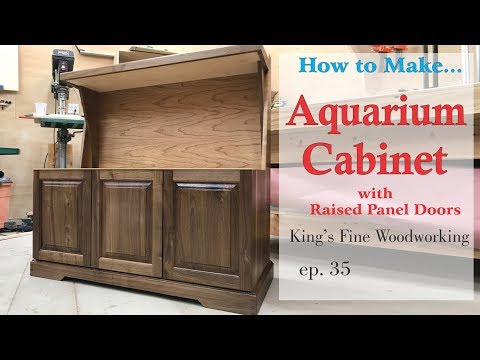 35 - Aquarium Cabinet from Walnut and Cherry raised panel doors