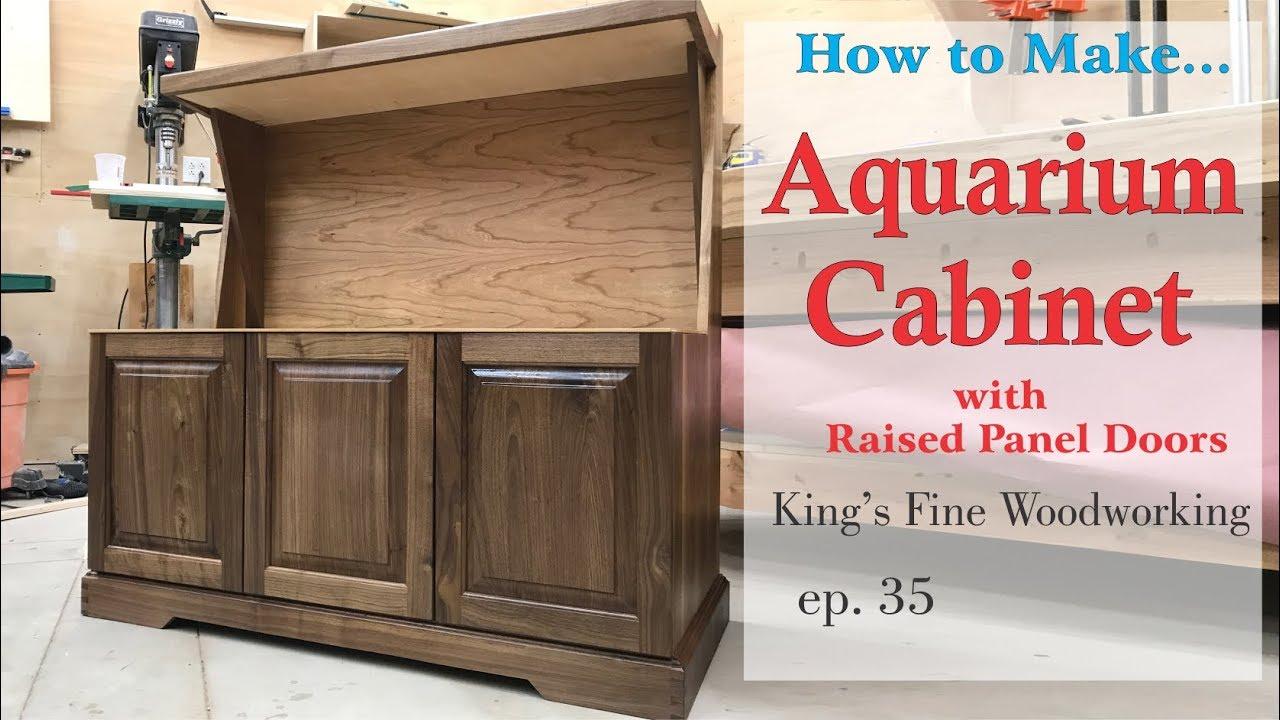 35 Aquarium Cabinet From Walnut And Cherry Raised Panel Doors