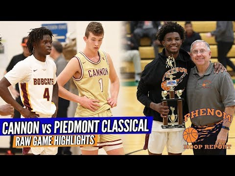 AT THE BUZZER!! Hometown Piedmont Classical Vs. #1 Cannon School...Full Game RAW Highlights