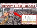田町駅北側で東海道本線の上下線に間にトンネルが掘られることになった羽田空港アク…