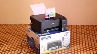 Epson L3101 Ink Tank Printer Unboxing And Installation With Photo Samples And Printing Speed Vs. HP