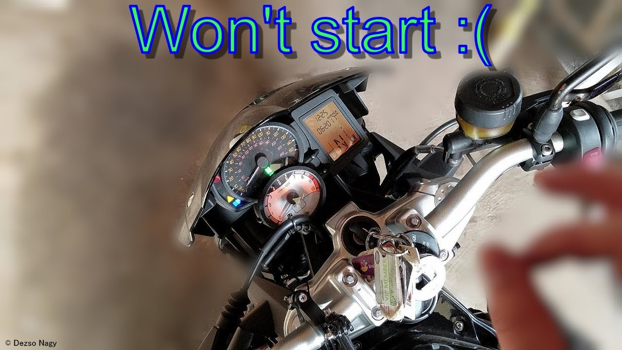 My BMW F800R won't start :(