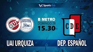 CD UAI Urquiza vs Dep.Espanol full match
