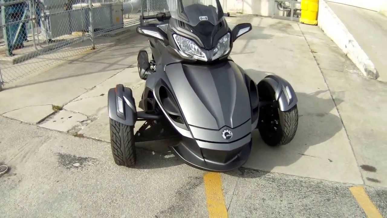 Canam Spyder Matte Grey Motorcycle Wrap Miami Florida