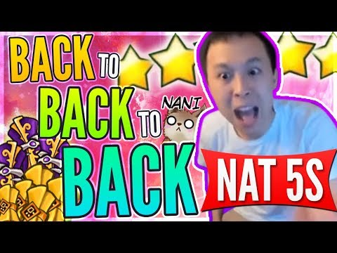 Three NAT 5s In A ROW!!! - Asia Server POWER! He Came BACK For MORE Luck! - Summoners War