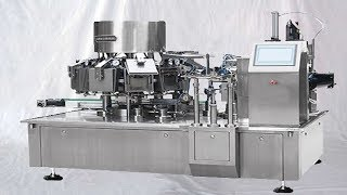 automatic snack food vacuum bagging equipment bags filling sealing integrated with vacuum pack
