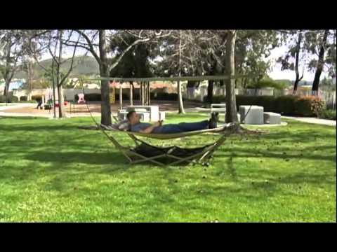 EZ Stow Portable Hammock with Canopy & EZ Stow Portable Hammock with Canopy - YouTube