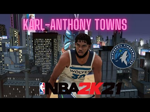 NBA 2K21 Karl Anthony Towns Build-Dominates Paint and Shoots Threes-Insane Center Build