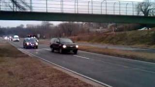 Chinese President Hu Jintao Arrives to DC -- Motorcade Jan. 2011