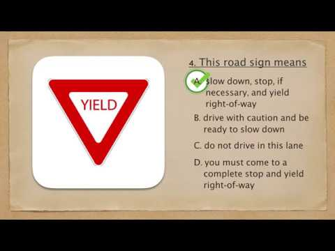 DMV Virginia Traffic Sign Test 1- Dmvvatest.com