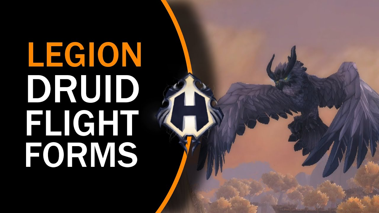 LEGION BETA | New Druid Flight Forms (Sentinel Owl) - YouTube