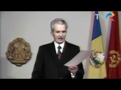 """Revoluţia Română: Discursul lui Ceauşescu despre """"huliganii"""" din Timişoara"""