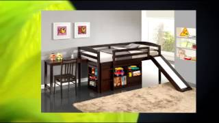 Broyhill Kids Destin Junior Loft Bed Collection With Slide Espresso
