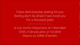 Glee - A thousand years / Paroles & Traduction