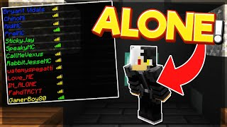 Alone in 4v4s?! | Hypixel Bedwars