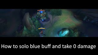 Ranged champions can take 0 damage from blue buff