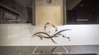 Kitchen Worktop & Glass Splashback Installation - CreoGlass