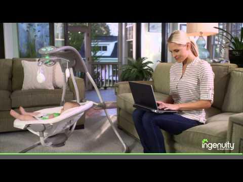 Meet the InLighten Cradling Swing from Ingenuity