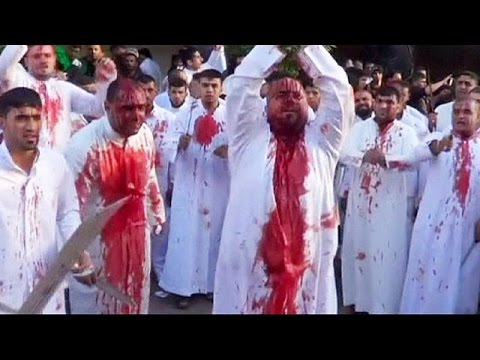 Graphic footage: Shi'ite Muslims observe Ashura holy day, Iraq