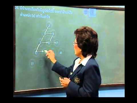 เฉลยข้อสอบ TME คณิตศาสตร์ ปี 2553 ชั้น ป.3 ข้อที่ 24
