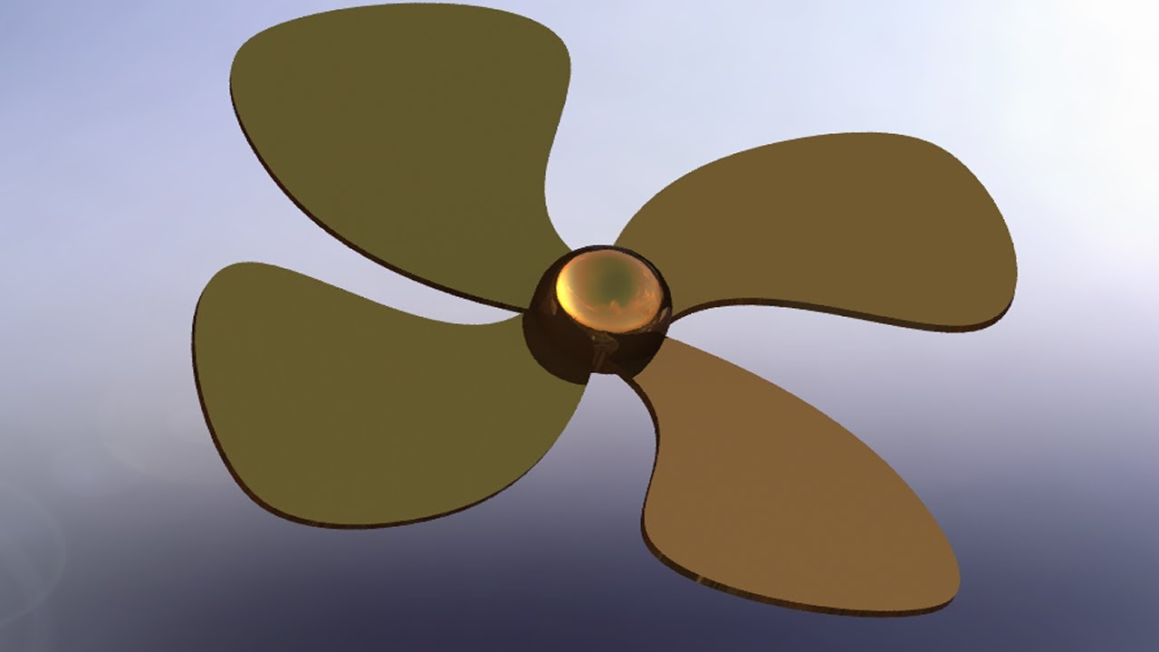 SolidWorks P Tutorial 80 Propeller Drawing simple amp Effective YouTube
