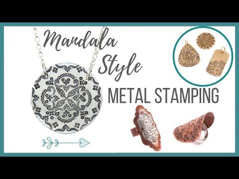 Mandala Style Metal Stamping Tutorial - Beaducation.com